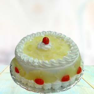 1 Lb Pineapple Cake: Gift Collectorate,  Indore