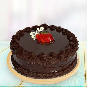 1lb Chocolate Truffle Cake: Chocolate Cake Manorama Ganj,  Indore