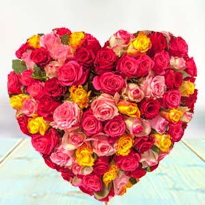 HEART SHAPED ARRANGEMENT: Rose day Radio-colony, Indore