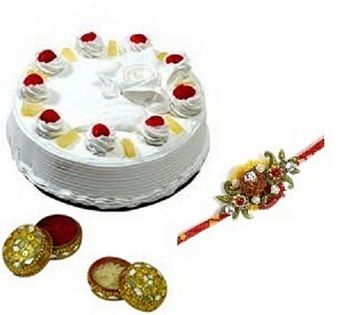 Pineapple Cake & Rakhi: Rakhi Vallabhnagar,  Indore