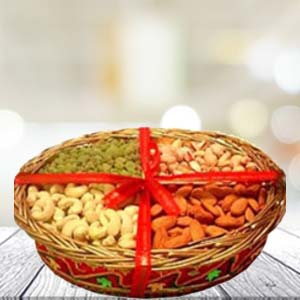 Dry Fruit Basket Small: Gift B K Colony,  Indore