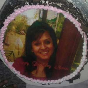 Photo Cake 1kg: Gift Cloth Market,  Indore