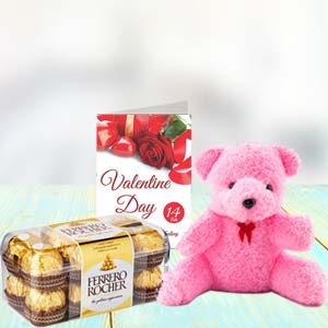 Chocolate, Teddy & Card: New Year  Indore