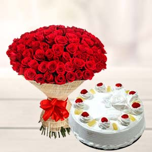 50 Rose Combo: Valentine's Day Indore Cantt,  Indore