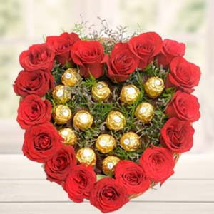 Chocolates With Heart Shape: Gifts Siyaganj,  Indore