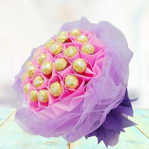 Ferrero Rocher Bouquet(24 pieces): Chocolates Govt-college, Indore