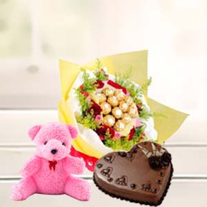 Valentine LOVE Combo: Teddy Day Kumarkhadi,  Indore