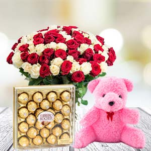Valentine Chocolate & Teddy Combo: Valentine's Day Vallabhnagar,  Indore
