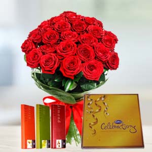 Cadbury Chocolates Combo: Valentine's Day Flowers Javeri Bagh,  Indore