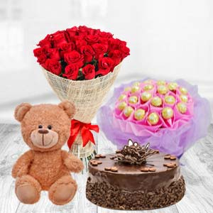 Valentine Superb Combo: Teddy Day Jail Road,  Indore