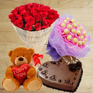 Best For Couple: Anniversary-flowers-&-cake  Indore