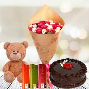Valentine Temptations Combo: Teddy Day Manorama Ganj,  Indore