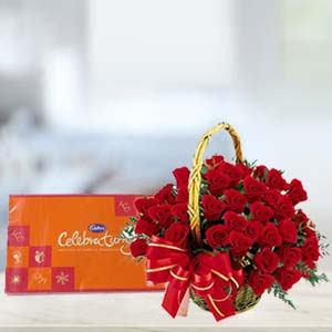 Cadbury Celebration With Roses: Gift New Palasia,  Indore
