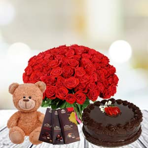 Valentine Basket combo with Temptations: Hug day Indore-cantt, Indore