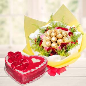 Heart Shaped Chocolate Combo: Valentine's Day Gifts For Girlfriend Rambagh,  Indore