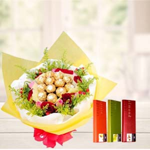 Ferrero Rocher Bunch with Temptations: New year Industrial-area, Indore