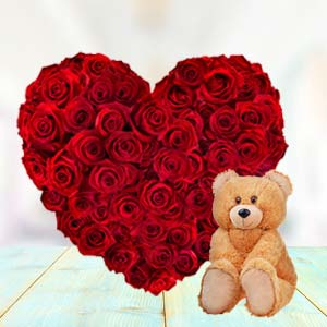 Heart Shaped Roses Combo: Valentine's Day Gift Ideas Malwa Mills,  Indore