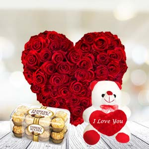 Exclusive Combo With Chocolates: Valentine's Day Flowers R.s.s.nagar,  Indore
