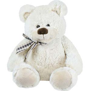 1 feet White Teddy Bear: Soft toys Govt-college, Indore