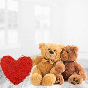 Teddy Bear With Pillow: Gift Lokmanyanagar,  Indore