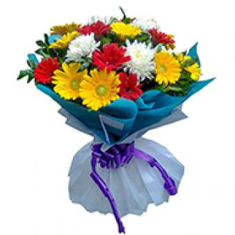 Bouquet Of Mix Gerbera: Gifts Rambagh,  Indore