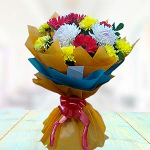 Bouquet Of Gerbera And Carnations: Gifts Nanda Nagar,  Indore