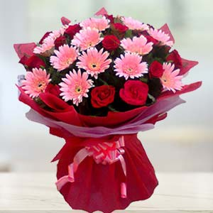 Red Roses And Pink Gerbera: Gift Kumarkhadi,  Indore