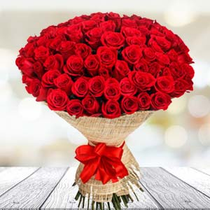 Bouquet of 30 red roses: Promise day Govt-college, Indore