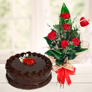 Best Flowers Combo: Gifts For Husband Collectorate,  Indore