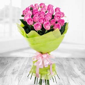 Bunch Of 20 Pink Roses : Gifts Siyaganj,  Indore