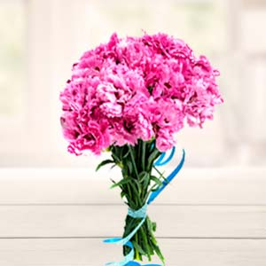 Carnations Bunch Flowers Chocolate Basket Mixed, Indore