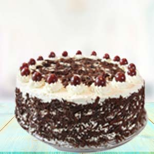 1 KG Black Forest Cake: Gifts For Brother Cloth Market,  Indore
