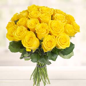 Yellow Roses Bunch: Gift Bicholi Mardana,  Indore