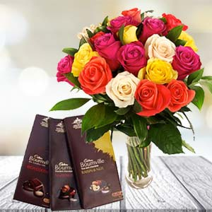 Mix Roses With Chocolates: Anniversary-flowers-&-chocolates  Indore
