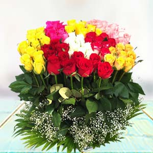 70 Mixed Roses: Gifts Nanda Nagar,  Indore