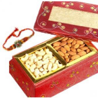 Dry Fruits Box With Rakhi: Rakhi Jail Road,  Indore