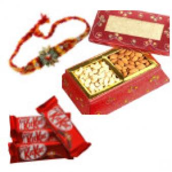 Rakhi Combos With Kit Kat : Rakhi  Indore