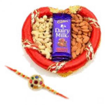 Dry Fruits Thali With Rakhi: Rakhi Burankhedi,  Indore