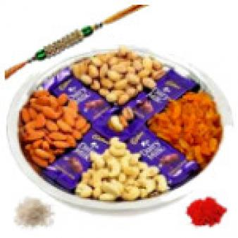 Dry Fruits Mix Chocolates Thali: Rakhi Vallabhnagar,  Indore