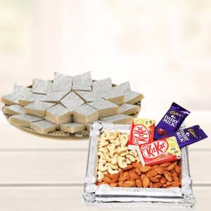 Dry Fruits Combo With Kaju Katli: Gifts For Brother Malharganj,  Indore