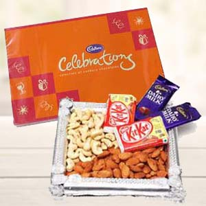 Dry Fruits Combo With Cadbury Celebrations: 1st-birthday-gifts  Indore