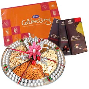 Dry Fruits Box Combo With Chocolates: Gift New Palasia,  Indore