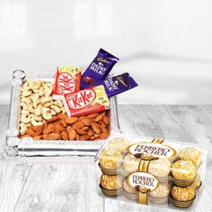Dry Fruits Box With Ferrero Rocher: Diwali Gifts Khedi Sihod,  Indore