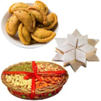 Dry Fruits With Sweets Combo: Gift Cgo Complex,  Indore