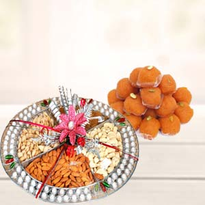 Dry Fruits Thali With Motichoor Laddoo: Mothers-day-sweets  Indore