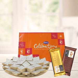 Sweets Combo With Cadbury Celebrations: Rakhi Lokmanyanagar,  Indore