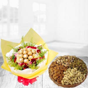 Special Combo With Dry Fruits Thali: Gift Army Head Quarter,  Indore