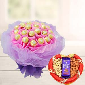 Combo Of Ferrero Rocher Chocolates: Gifts For Brother Malharganj,  Indore