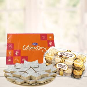 Ferrero Rocher Combo With Celebrations: Gifts For Brother Bada Sarafa,  Indore