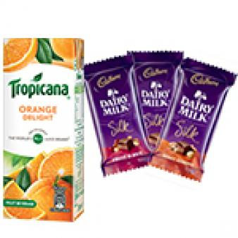 Tropicana & Dairy Silk Chocolates: Gift Govt College,  Indore